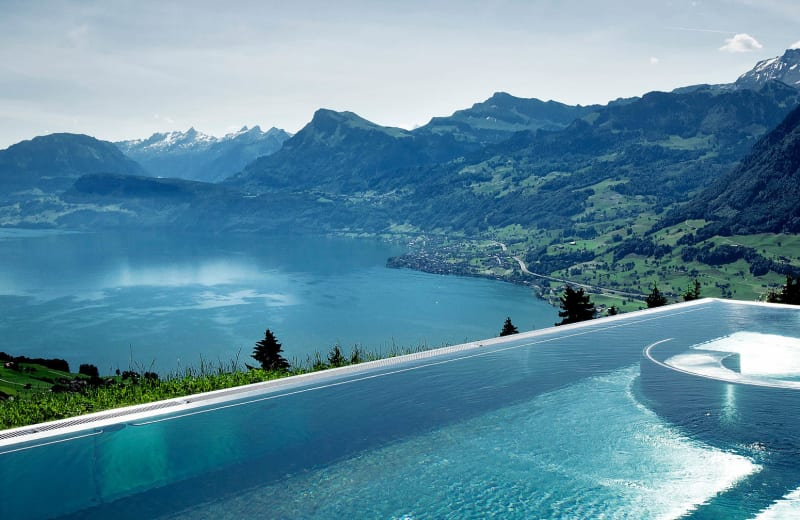 The swiss infinity pool that 39 s so stunning it 39 s gone viral viva lifestyle travel - Infinity pool europe ...