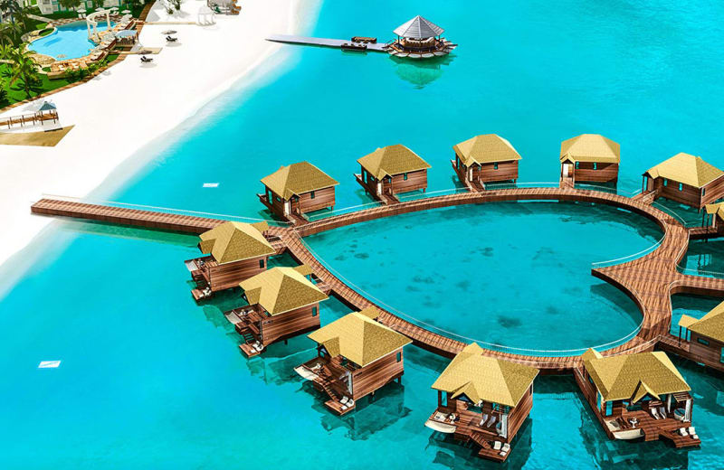 Over Water Bungalows Coming To Sandals South Coast Viva