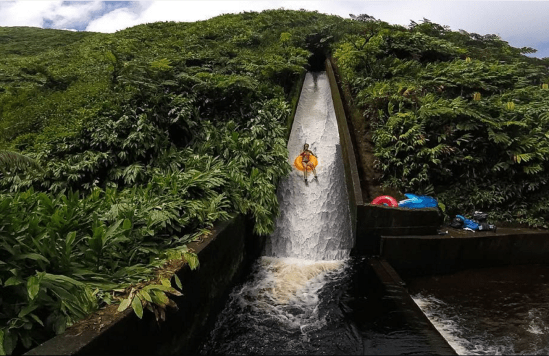 Hawaii Has a Secret Water Slide and it's Epic