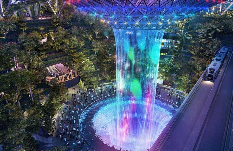 Singapore's New Airport Terminal is Basically an Adventure Park