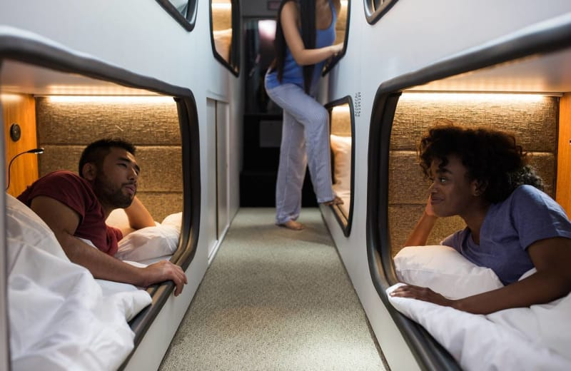 A Sleeper Bus with Pod-Like Rooms is Coming to California