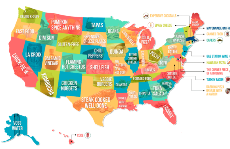 The Most Hated Food in Each US State, Mapped