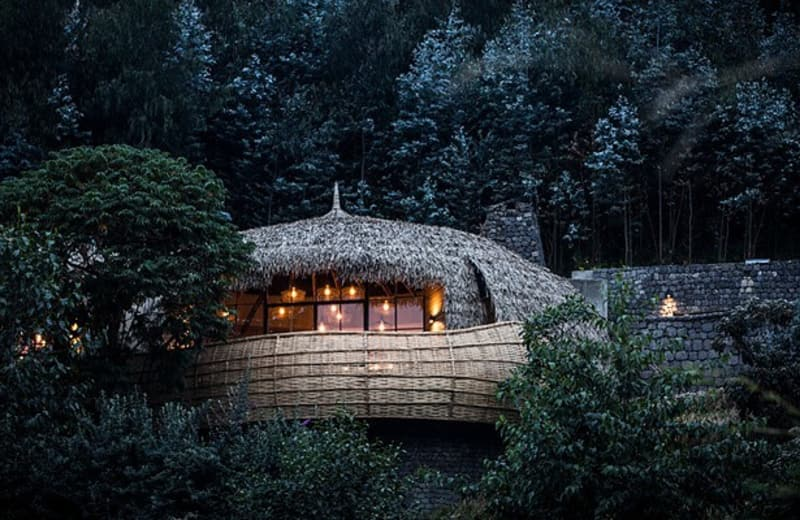 This Stunning Luxury Treehouse is in the Middle of an African Volcano