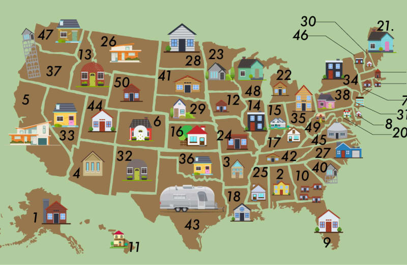 The Most Popular Airbnbs in Every US State, Mapped