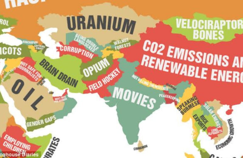 What Every Country Does Better Than The Rest, Mapped