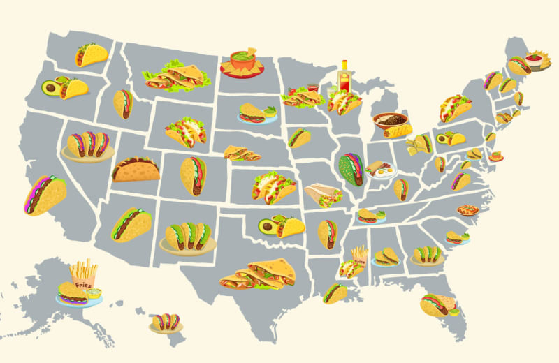 The Best Tacos in Every US State, Mapped
