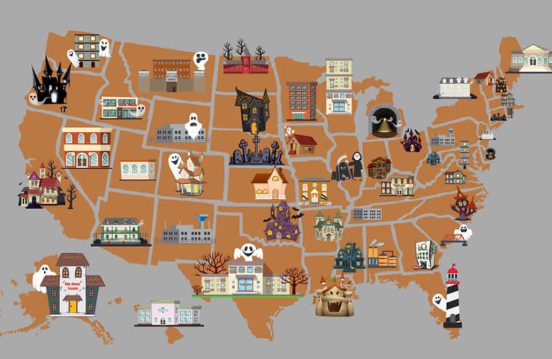 The Most Haunted Place in Every State, Mapped