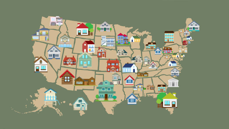 The Most Affordable Bed and Breakfast in Every U.S. State, Mapped