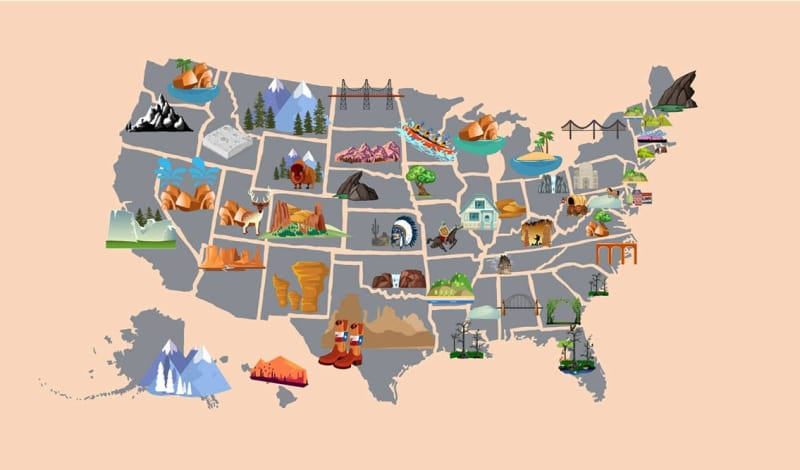 The Best National Park in Every U.S. State, Mapped