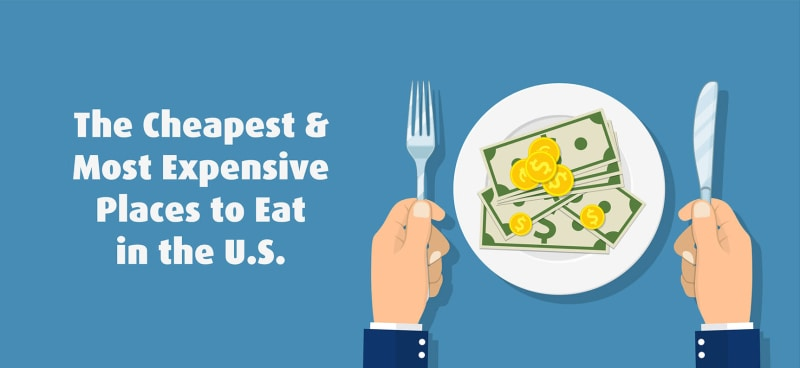 It's Official: These are the Cheapest and Most Expensive Places to Eat in the U.S