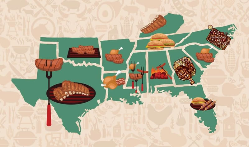 The Best BBQ Joint in Every Southern State, Mapped