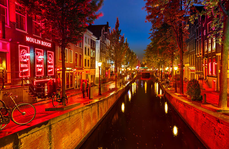Amsterdam city from live real sex sin time