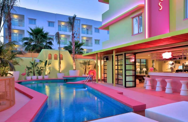 tropi real life barbie dream pink house tropicana ibiza hotel